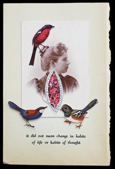 """""""Habits of Thought""""  - collage by Hope Kroll at Nisa Touchon Fine Art - Santa Fe"""