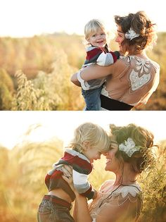 Gorgeous mother & son shoot --perfect! Definitely stealing some of these ideas for his fall shoot.