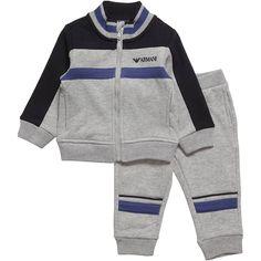 TUTA SPORTIVA ARMANI BABY,    Tuta di Armani Baby da bambino in felpa di colore grigio con inserti e profili in 2 tonalità di colore blu, chiusura con zip, polsini e fondo a costine, pantaloni con elastico in vita, tasca sul retro, logo armani. Abbigliamento sportivo di Armani Baby.  http://www.abbigliamento-bambini.eu/compra/tuta-sportiva-armani-baby-2742347