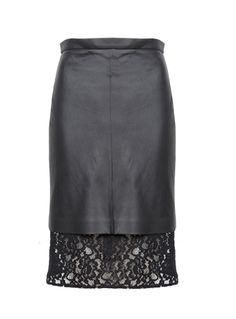 Oxygen | Sea NY Lace and Leather Skirt