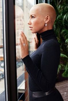 In Bloom: The Softer Side of Amber Rose Amber Rose from her 2011 feature on … Short Hair Cuts, Short Hair Styles, Black Is Beautiful, Beautiful Women, Pelo Afro, My Hairstyle, Bald Hairstyles, Pixie Cut, Girl Crushes