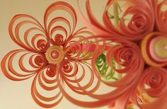 Quilling  Girl Mobile  Crib Mobile  Pink Mobile  by tsipouritsa, $149.00