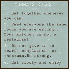 Mumma's guide to the fussy eater