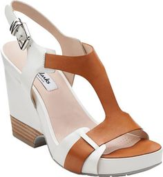 b9f6cb5e7 Women s Clarks Rosalie Petal - Tan Combination Sandals Comfortable Heels