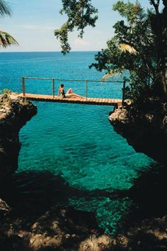 Negril, Jamaica....going SOON. Doubt we will be quietly sitting on a bridge. We will be the rowdy group at the pool bar!