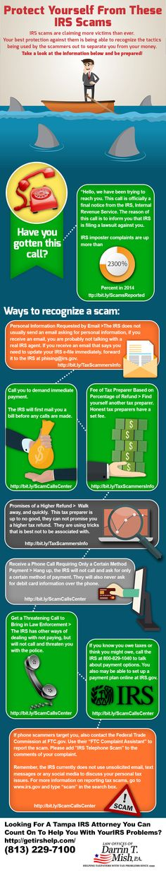 IRS Scams Infographic
