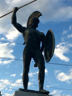 Statue of Spartan King Leonidas in Thermopylae.