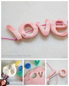 Salt dough necklaces from for Reposted from . - Diy And Crafts Diy And Crafts, Crafts For Kids, Bff Gifts, Idee Diy, Salt Dough, Love Craft, Love Necklace, Craft Materials, Creative Kids