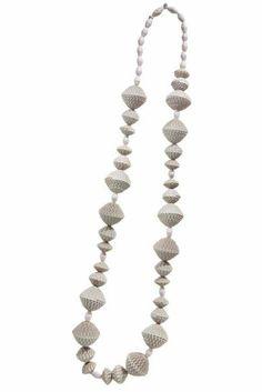 """Collana """"Conchiglie"""" 2009 - cartoncino ondulato, filo di seta, Angela Simone"""