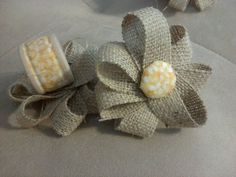 Reception, Vintage, Floral, Country, Rings, Burlap, Napkin