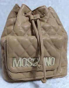 Moschino Bucket Bag Women Drawstring Backpack Khaki - moschinooutlet2015.com