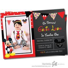 Mickey mouse invitación invitación de Mickey por GardellaGlobal