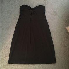 Brown strapless dress Brown strapless dress in cotton. With built in bra. Victoria's Secret Dresses Mini