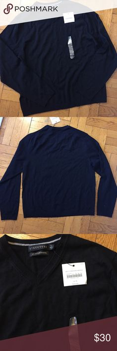 "NWT Structure Men's Merino Wool Sweater Beautiful lightweight wool sweater. 22"" across chest, 19"" arm inseam, 27"" length Structure Sweaters V-Neck"