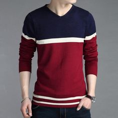 ZOEQO new V-neck sweater men, men's fashion knitwear Men Pullovers Sweater Jumpers Men Casual Sweater Hot Sale Male Sweaters, Mens Fashion Sweaters, Knitwear Fashion, Casual Sweaters, Sweater Fashion, Pullover Sweaters, Men Sweater, Men's Fashion, Wool Sweaters
