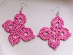 Delicate Butterfly Crochet Earrings by DivaStitchesCrochet on Etsy, via Etsy.  #crochet #earrings #jewelry #butterfly