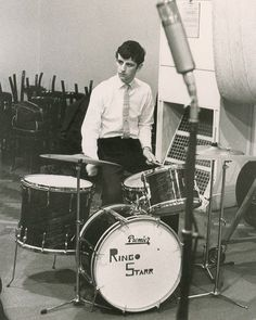 "love the drums /  Ringo before the BEATLES --  His drums say ""Ringo Starr"""