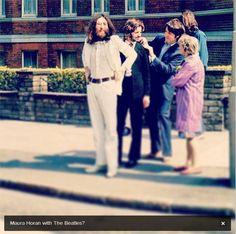 Maura Horan with The Beatles? jajaja