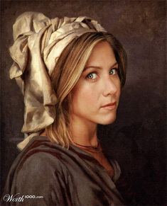 Modern celebrities in famous paintings