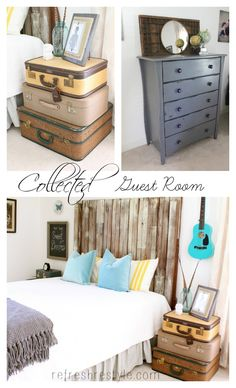 Use the things you've collected to style a room.
