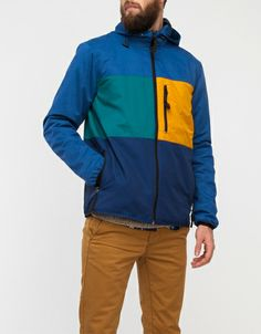 Colour and Fabric Mix Hoody