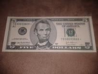 VERY Rare 2003 A $5 FRN *STAR* Note from New York GEM!
