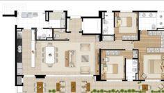 170m² 3 dorms 3 suítes