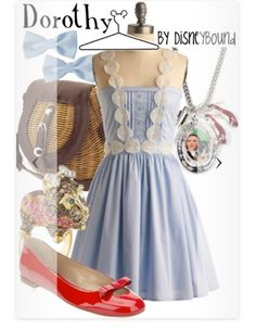 disneybound - Posts tagged wizard of oz Disney Themed Outfits, Disney Inspired Fashion, Character Inspired Outfits, Disney Bound Outfits, Disney Fashion, High Fashion, Women's Fashion, Wizard Of Oz Disney, Disney Dress Up