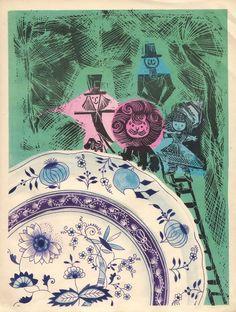 Adam Kilian illustrations for The Wizard of Oz, Poland, 1962