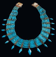 Ancient & Medieval History - Egyptian Faience Collar Necklace, Late Period, C. 664-332 BC