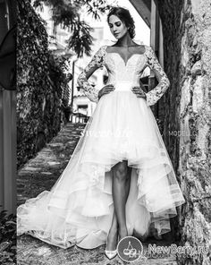 Modest High Low Wedding Dresses with Long Sleeves Short Front Long Back Tulle Sash Sweetheart Cheap 2016 Spring Garden Beach Bridal Gowns Online with $126.06/Piece on Sweet-life's Store | DHgate.com