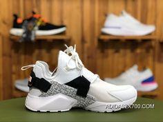"Nike Air Huarache City Low ""Just Do It"" AO3140-100 White Black-Total Orange  Best 7153cd6c3"