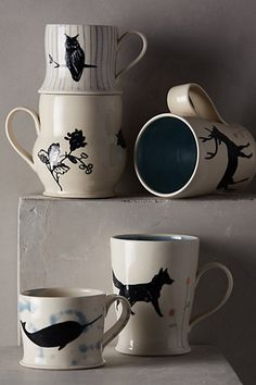 Woodland shadow mugs #anthrofave http://rstyle.me/n/s8pdvnyg6