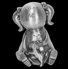 Angel Giftwares Money Bank Doll, Pewter – Sweet Thing Baby & Childrens Wear #Kids #Gift #Stuff sweetthing.com.au