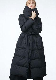 High-End-Woolen Naht nach unten Jacke, Winter Mantel Frauen, Feder Parka Daunenmantel Lady, lange nach unten Jacke schwarz - Frauen die Kleidung F848