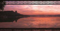 Sunset scene at the Summer Palace, Beijing.