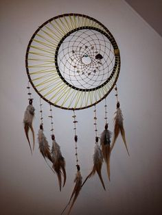 Sun moon and stars dream catcher by Dreams4Ashlyn on Etsy