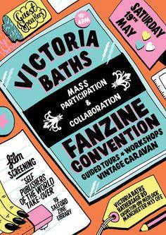 Victoria Baths Zine Fair Flyer – KP