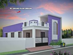 House Front Wall Design, House Balcony Design, Single Floor House Design, Modern Small House Design, Room Door Design, Front Design, House Layout Plans, House Layouts, House Elevation
