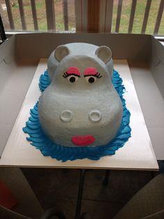 Hippo Cake Baby Shower Prizes Games Little Girl Birthday