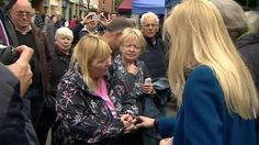 Prime Minister Theresa May was challenged by voters while out campaigning in Abingdon.