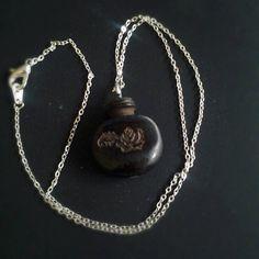 Engraved Violin Peg Necklace. $14.00, via Etsy.