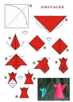 Christmas Origami Diagram Honeywell Homexpert Room Thermostat Wiring 189 Best Images Crafts Karacsonyfadisz Angyal Mas Oragami