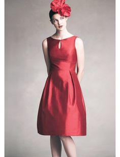 Taft U Ausschnitt Knielange Elegant Kleid Standesamt