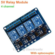 5V Four 4 Channel Relay Module with Optocoupler for Pic AVR DSP Arm Arduino 8051 - 5.5$
