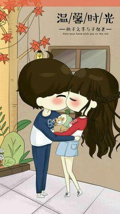 รูปภาพ art, baby doll, and cute art Love Cartoon Couple, Chibi Couple, Cute Love Cartoons, Kawaii Chibi, Cute Chibi, Anime Chibi, Anime Couples, Cute Couples, Cute Love Pictures