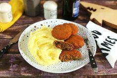 Imádni fogjátok ezt a vöröslencse-fasírtot! | Street Kitchen Naan, Fruits And Vegetables, Mashed Potatoes, Waffles, Pasta, Fish, Breakfast, Ethnic Recipes, Desserts