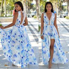 Sexy-Women-V-Neck-Playsuit-Floral-Romper-Summer-Boho-Beach-Dress-Short-Jumpsuit