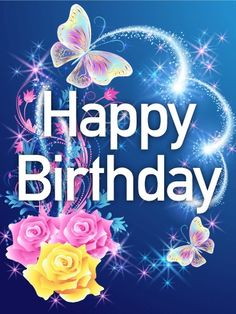 Send free its a big celebration happy birthday card to loved ones send free shining rose butterfly happy birthday card to loved ones on birthday greeting cards by davia its free and you also can use your own m4hsunfo