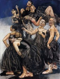 Right-hand panel of Dancing Ostriches Paula Rego. Paula Rego Art, Figure Painting, Painting & Drawing, Women Artist, Frank Auerbach, Paint Brush Art, Twisted Disney, Galleries In London, David Hockney